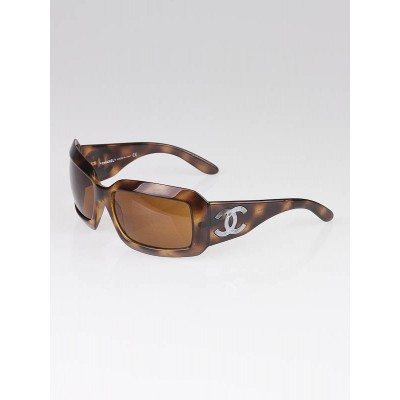 Chanel Tortoise Shell Frame CC Mother-of-Pearl Sunglasses - 5076