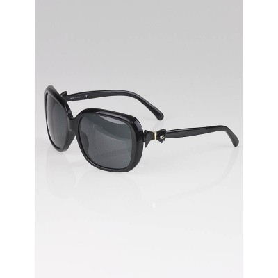 Chanel Black Frame and Black Bow Sunglasses-5171