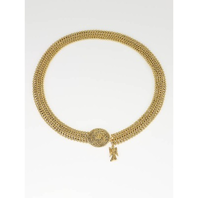 Chanel Goldtone Mesh Medallion Belt