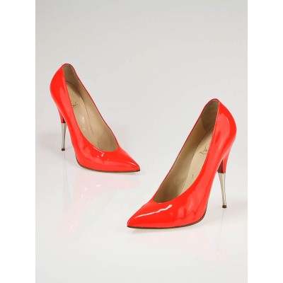 Christian Louboutin Fire Patent Leather Lola 120 Pumps