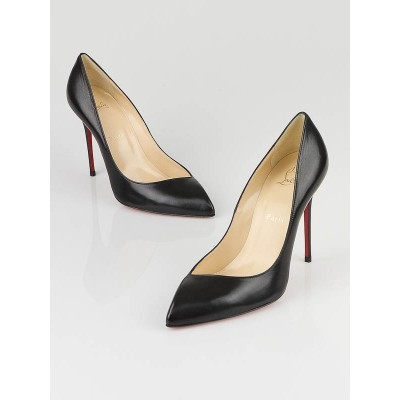 Christian Louboutin Black Leather Corneille 100 Pumps Size 8/38.5