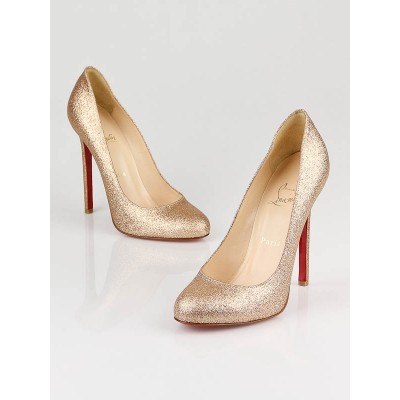 Christian Louboutin Gold Glitter Pumps Size 7/37.5