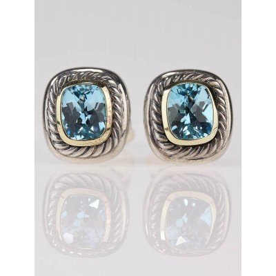 David Yurman 8mm Blue Topaz Earrings