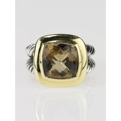 David Yurman 11m Champagne Citrine Albion Ring Size 7