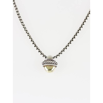 David Yurman Sterling Silver and 14k Gold Petite Albion Necklace
