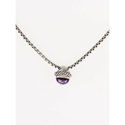 David Yurman Petite Albion Amethyst Necklace