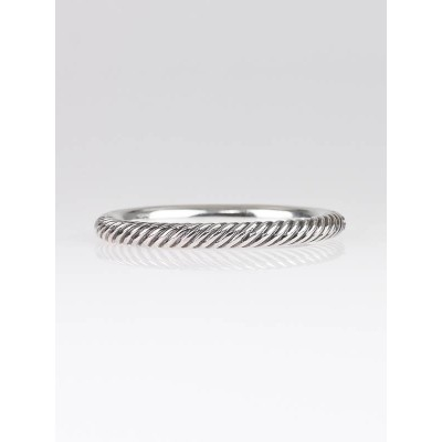 David Yurman 7mm Sterling Silver Cable Bracelet