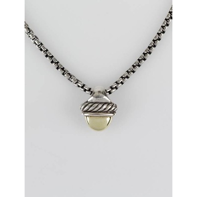 David Yurman Sterling Silver and 14k Gold Petite Albion Pendant Necklace
