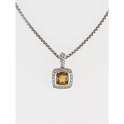 David Yurman Citrine and Diamond Petite Albion Pendant Necklace