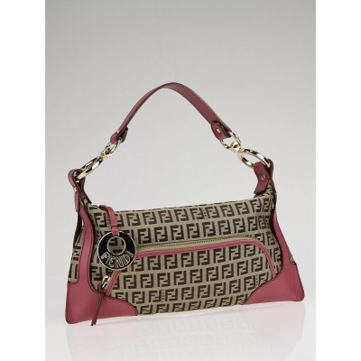 Fendi Brown Zucchino Print Canvas Small Chef Bag