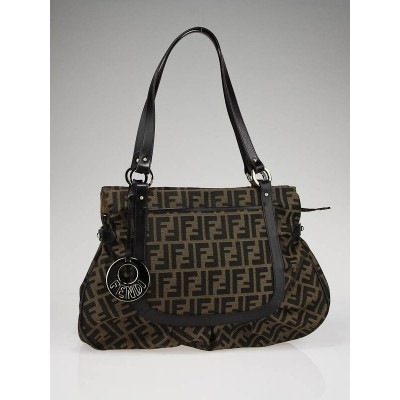 Fendi Tobacco Zucca Print Canvas Large Chef Shoulder Bag