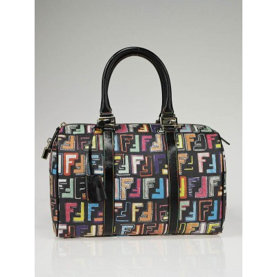 Fendi Multicolor Coated Canvas Zucca Spalmati ' Forever' Bag