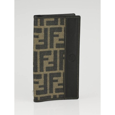 Fendi Black Zucca Print Coated Canvas Checkbook Holder