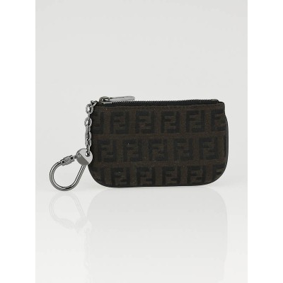 Fendi Brown Tobacco Zucca Canvas Key and Change Holder