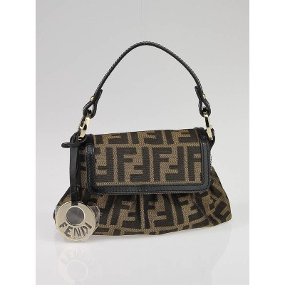 Fendi Tobacco Zucca Canvas Mini Chef Bag