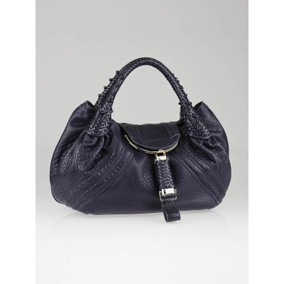 Fendi Blueberry Nappa Leather Spy Bag