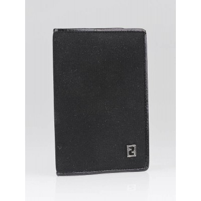 Fendi Black Nylon Mini Agenda Cover