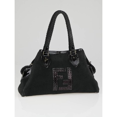 Fendi Black Canvas Small Bag De Jour Bag