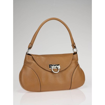 Salvatore Ferragamo Caramello Leather Flap Shoulder Bag