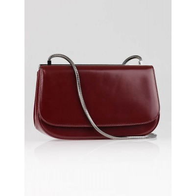 Salvatore Ferragamo Red Leather Small Shoulder Bag