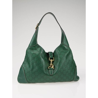 Gucci Green Guccissima Leather Jackie O Hobo Bag