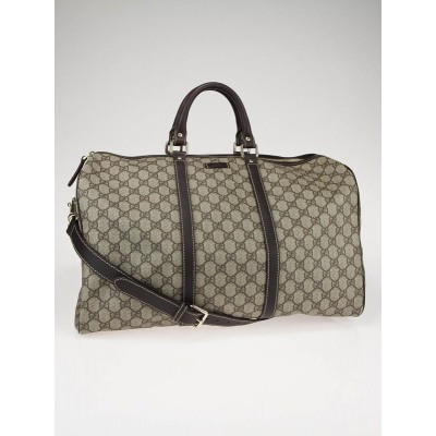Gucci Beige/Ebony GG Coated Canvas Carryall Duffle Bag