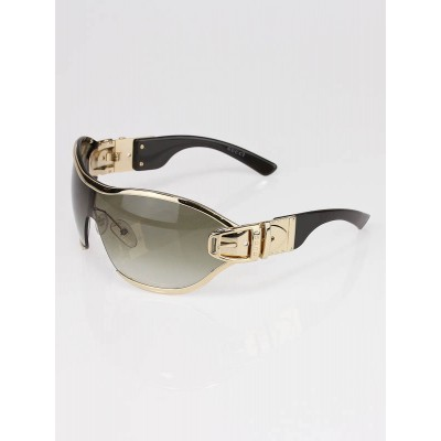 Gucci Gold Frame Buckle Shield Sunglasses 2738