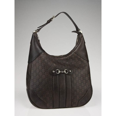 Gucci Brown Guccissima Leather Horsebit Hobo Bag