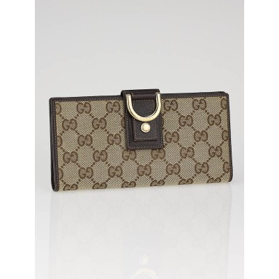 Gucci Beige/Ebony GG Fabric Abbey Long Wallet