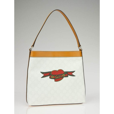 Gucci GG Guccissima Heart Collection Tattoo Hobo Bag for Unicef