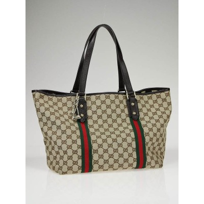 Gucci Beige/Ebony GG Fabric Jolicoeur Large Tote Bag