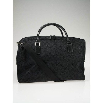 Gucci Black GG Canvas Large Carryall Duffel Bag