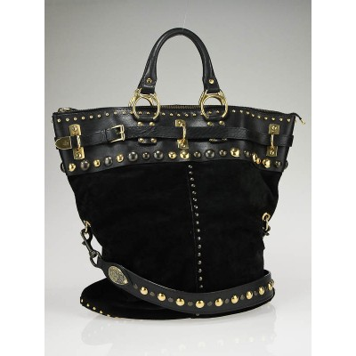 Gucci Black Suede Babouska Runway Bag