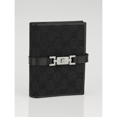 Gucci Black GG Canvas Agenda Notebook