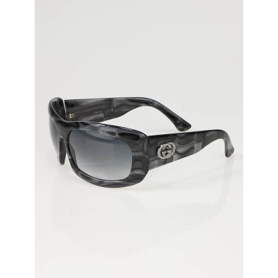 Gucci Black and White Marbled Frame GG Logo Sunglasses -2971/S