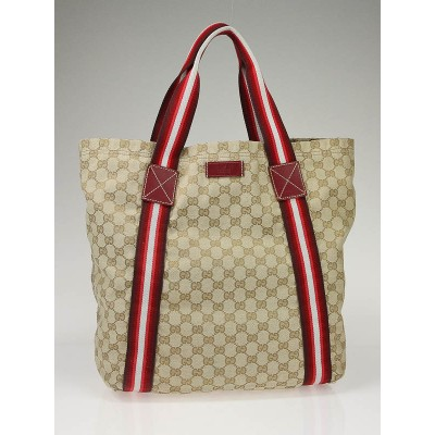 Gucci Beige GG Canvas Large Tote Bag