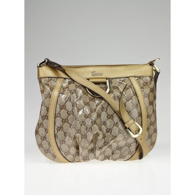 Gucci Beige/Ebony GG Canvas D-Ring Crossbody Bag