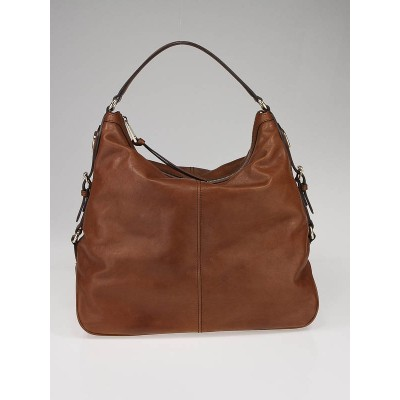 Gucci Brown Leather Village Large Hobo Bag