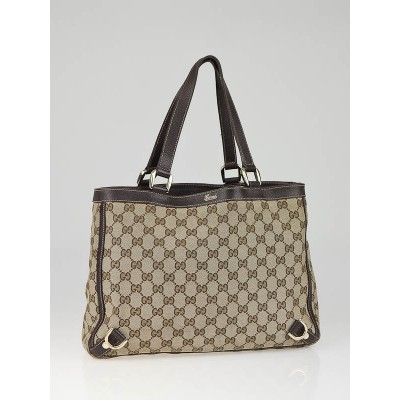 Gucci Beige/Ebony GG  Abbey Day Medium Tote Bag