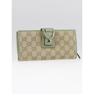 Gucci Beige GG Canvas Abbey Long Wallet