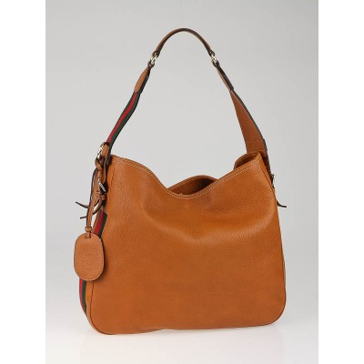 Gucci Tan Leather Heritage Medium Shoulder Bag