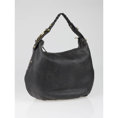 Gucci Grey Leather Medium Pelham Hobo Bag