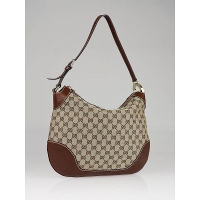 Gucci Beige/Brown GG Canvas Charlotte Shoulder Bag