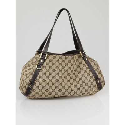Gucci Beige/Ebony GG Fabric Abbey Medium Tote Bag