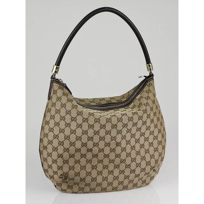 Gucci Beige/Ebony GG Canvas Medium Shoulder Bag