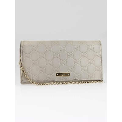Gucci Taupe Guccissima Leather Wallet-Clutch Bag