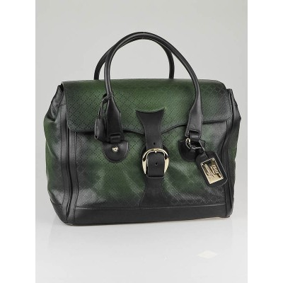 Gucci Dark Green Diamente Leather Carry-On Duffel Bag