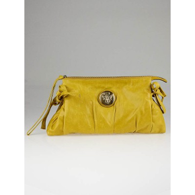 Gucci Yellow Leather Hysteria Clutch Bag
