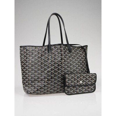 Goyard Black Coated Canvas St. Louis PM Tote Bag