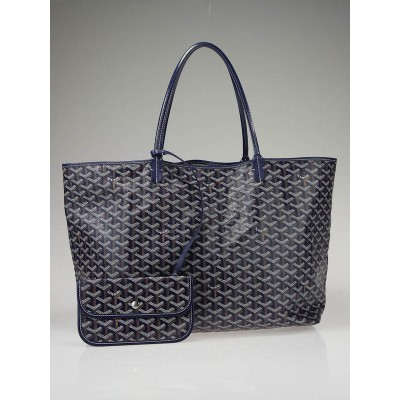 Goyard Blue Coated Canvas St. Louis GM Tote Bag
